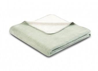 Biederlack Plaid Duo Cotton Melange salbei natur
