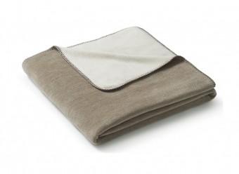 Biederlack Plaid Duo Cotton Melange sand natur