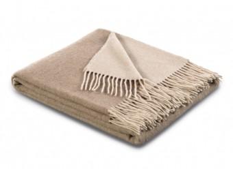 Biederlack-Plaid-Kaschmir-natur-sand