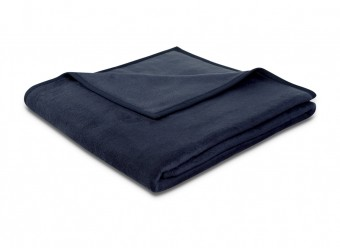 Biederlack-Plaid-Uno-Soft-dunkelblau