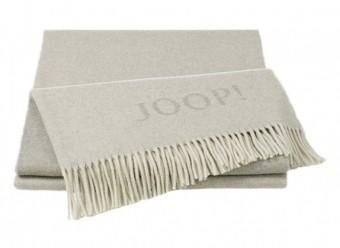 Joop!-Plaid-Fine-Doubleface-natur-sand