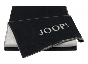 Joop!-Plaid-Melange-Doubleface-anthrazit-silber