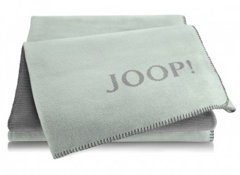 Joop!-Plaid-Melange-Doubleface-mint-schiefer