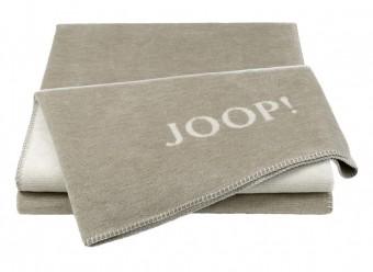 Joop!-Plaid-Melange-Doubleface-sand-natur