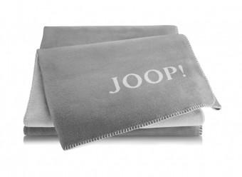 Joop!-Plaid-Uni-Doubleface-graphit-rauch