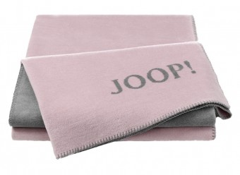 Joop!-Plaid-Uni-Doubleface-rose-graphit