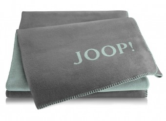 Joop!-Plaid-Uni-Doubleface-schiefer-aqua