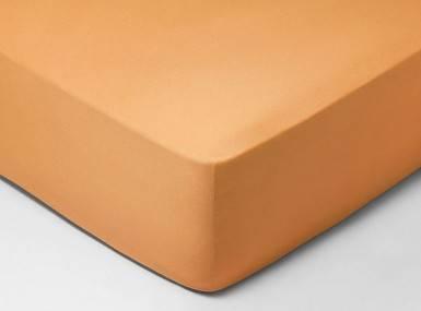 Vorschaubild schlossberg spannbettlaken satin tangerine