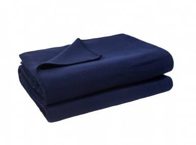 Vorschaubild zoeppritz soft fleece tagesdecke dunkles marine blau