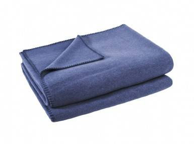 Vorschaubild zoeppritz soft fleece tagesdecke indigo blau
