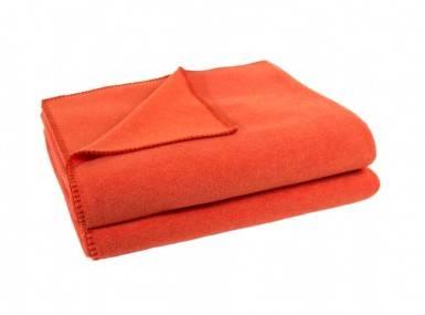 Vorschaubild zoeppritz soft fleece tagesdecke papaya orange