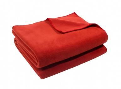 Vorschaubild zoeppritz soft fleece tagesdecke rost braun rot